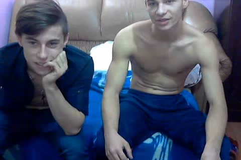 2 kinky ambisexual Romanian guys With admirable weenies & delicious booties On web camera.