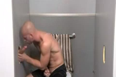 Gloryhole unprotected In lavatory