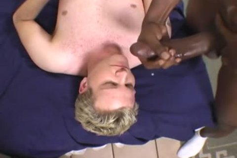 blond lad Does Terrible oral sex On A BBC