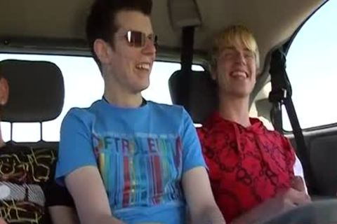Picking Up tasty teen Todd For Hard threesome Sex In The Car