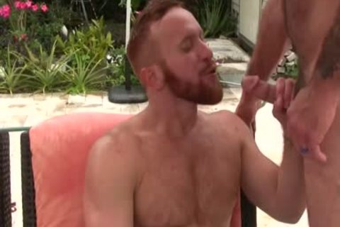 excited bushy daddy slams Ginger Sun - sperm sperm sperm