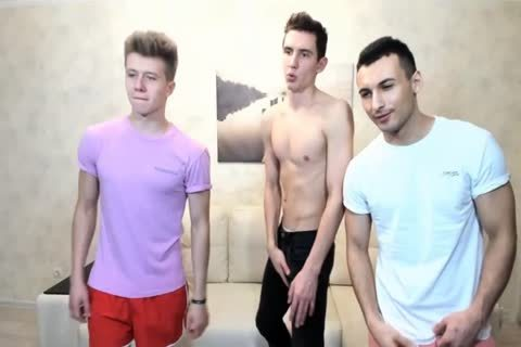 3 Russian handsome twinks With Great Round booties,filthy cocks On web camera