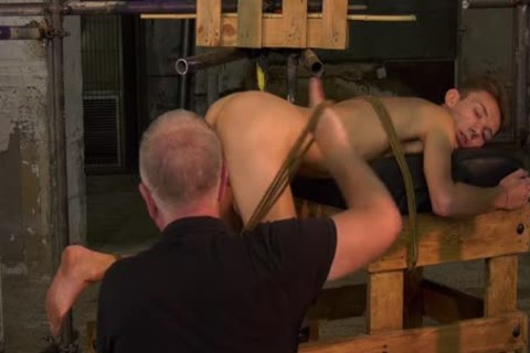 Restrained tractable Jerked Off By old taskmaster Sebastian